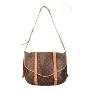 38329 Louis Vuitton Saumur 40 Monogram Canvas Tasche, Handtasche, Umhängetasche
