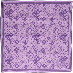 Louis Vuitton Foulard violet coton