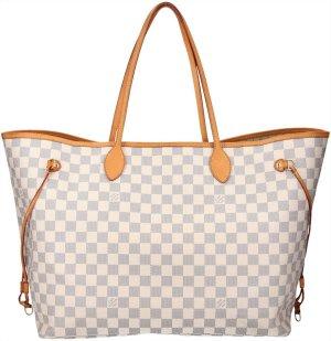 38350 Louis Vuitton Neverfull GM aus Damier Azur Canvas Tasche, Handtasche, Schultertasche