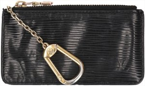 Louis Vuitton Key Chain black-gold-colored leather