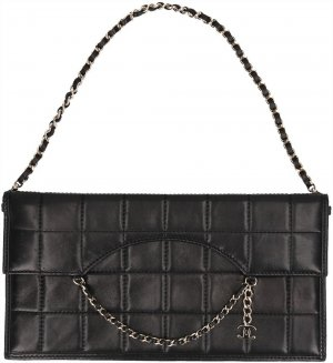 Chanel Clutch black-gold-colored leather