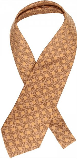 Hermès Informele das donkergeel-zandig bruin Zijde