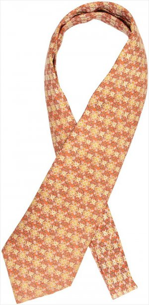 Hermès Silk Scarf light orange-yellow silk