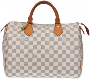 38751 Louis Vuitton Speedy 30 Damier Azur Canvas Tasche - Handtasche