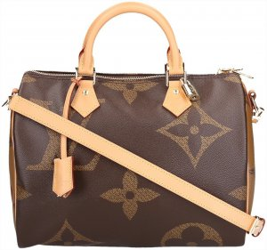 38773 Louis Vuitton Speedy 30 Monogram Giant Canvas mit Schulterriemen und Box