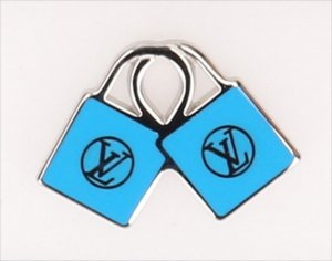 Louis Vuitton Broche blauw-zilver Metaal