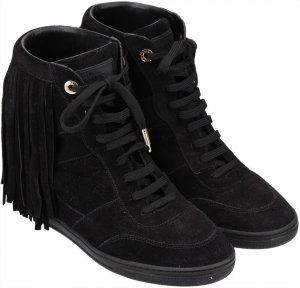 Louis Vuitton Wedge Sneaker black suede