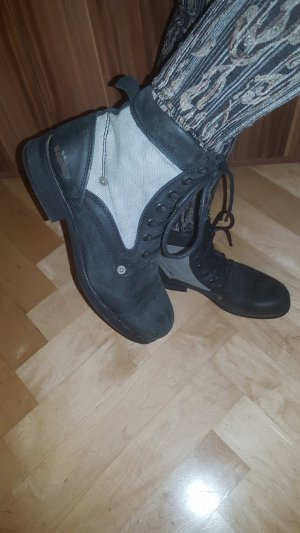 39 wNEU Bench Boots Stiefel Leder Canvas- Stoff
