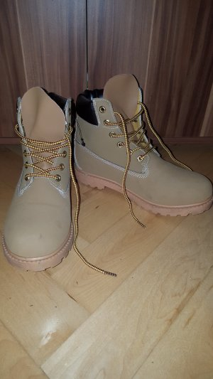 39 wNEU Boots Stiefel Kappa braun orange Stiefelette