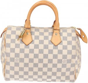 39021 Louis Vuitton Speedy 25 Damier Azur Canvas Tasche, Handtasche