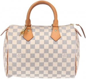 39031 Louis Vuitton Speedy 25 Damier Azur Canvas Tasche, Handtasche