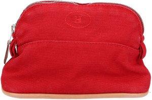 39036 Hermès Bolide Clutch, Kosmetiktasche aus Baumwolle in rot