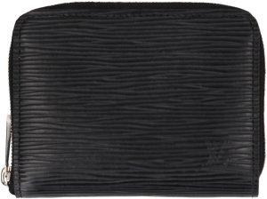 39107 Louis Vuitton Zippy Coin Geldbörse aus Epi Leder in Noir Schwarz