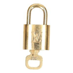 39121 Louis Vuitton Schloss mit einem Schlüssel No. 302 Farbe Gold/Messing
