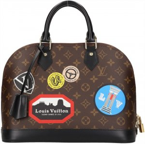 Louis Vuitton Bolso marrón oscuro-negro