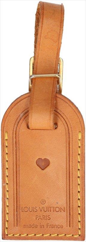39230 Louis Vuitton Adressanhänger, Anhänger mit eingeprägtem Motiv aus VVN Leder
