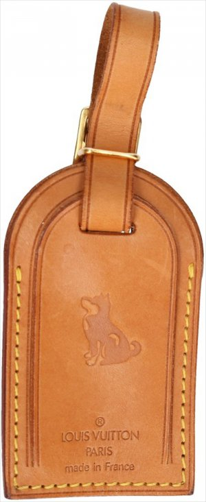 39258 Louis Vuitton Adressanhänger mit eingeprägtem Motiv ''Hund''