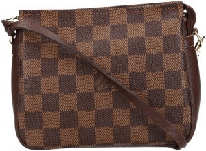 39270 Louis Vuitton Trousse Make-Up Clutch, Handtasche aus Damier Ebene Canvas