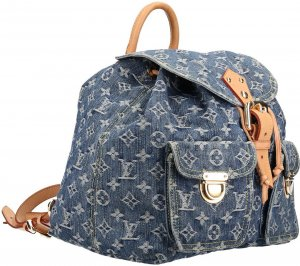 39303 Louis Vuitton Sac A Dos Rucksack, Handtasche Monogram Denim