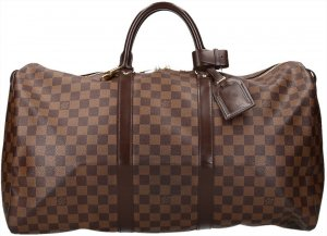 Louis Vuitton Borsa da viaggio marrone scuro