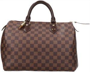 39355 Louis Vuitton Speedy 30 Damier Ebene Canvas Tasche, Handtasche, Henkeltasche