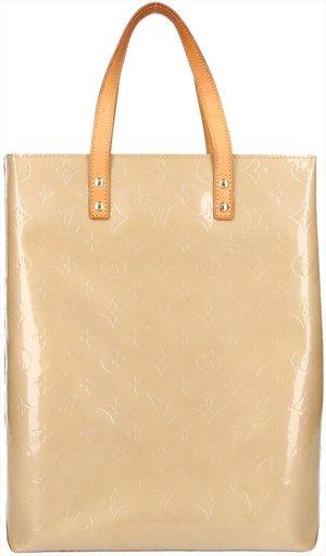 39358 Louis Vuitton Reade MM Monogram Vernis Leder Beige Tasche Handtasche
