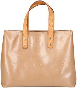 39359 Louis Vuitton Reade PM Monogram Vernis Leder Beige Tasche Handtasche