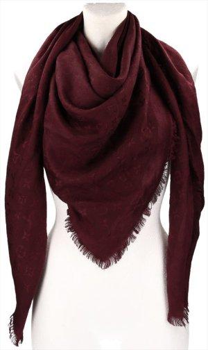 39363 Louis Vuitton Monogram Schal, Tuch aus Wolle und Seide in Amarante