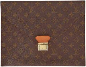 39367 Louis Vuitton Poche Plates Clutch, Tasche, Handtasche aus Monogram Canvas