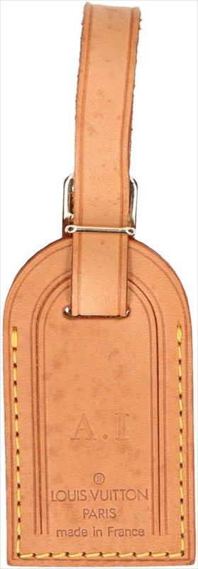 39368 Louis Vuitton kleiner Adressanhänger mit Initialen aus VVN Leder