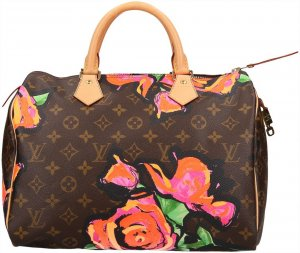39467 Louis Vuitton Speedy 30 Monogram Roses Canvas Tasche, Handtasche