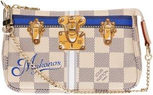 39511 Louis Vuitton Mini Pochette Damier Azur Canvas Tasche, Clutch, Handtasche