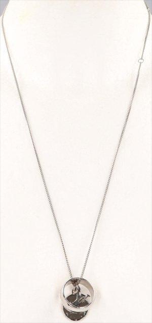 39561 Louis Vuitton Monogram Halskette mit Glücksbringer aus Zamak mit Palladium-Finish mit Box