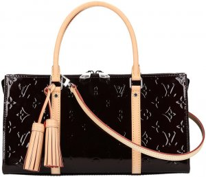 39573 Louis Vuitton Neo Triangle Henkeltasche, Handtasche, Tasche aus Monogram Vernis Leder in Amarante