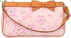 39584 Louis Vuitton Pochette Accessoires Clutch, Handtasche aus Monogram Cherry Blossom Canvas