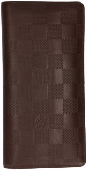 Louis Vuitton Wallet dark brown-silver-colored leather