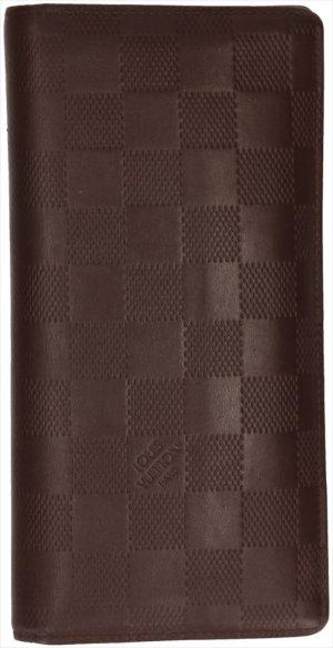 39607 Louis Vuitton Brazza Geldbörse, Portemonnaie, Geldtasche aus Damier Infini Leder in Meteor Braun