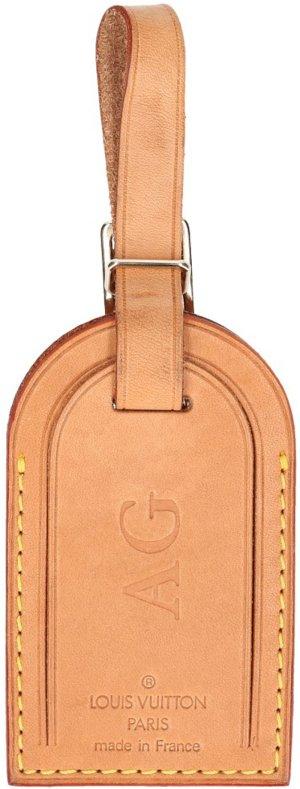 Louis Vuitton Sleutelhanger bruin Leer