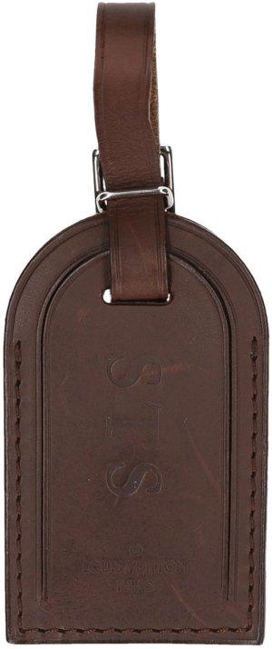 Louis Vuitton Porte-clés brun foncé cuir