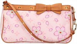 39634 Louis Vuitton Pochette Accessoires aus Monogram Cherry Blossom Canvas Tasche, Clutch