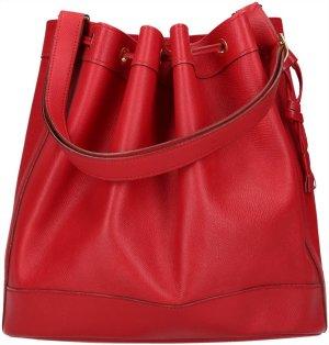 39650 Hermès Market 28 cm Handtasche aus Courchevel Leder in Rot