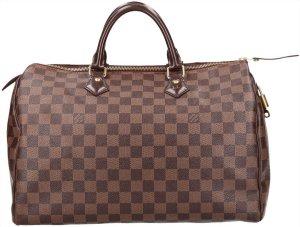 39666 Louis Vuitton Speedy 35 Damier Ebene Canvas Tasche, Handtasche, Henkeltasche