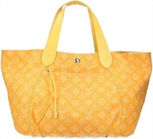 39667 Louis Vuitton Cabas Ipanema GM aus Segeltuch in Gelb Tasche, Handtasche