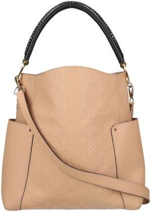 39669 Louis Vuitton Bagatelle Schultertasche, Handtasche, Tasche aus Monogram Empreinte Leder in Dune