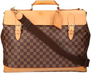 39677 Louis Vuitton West End Centenaire Damier Ebene Canvas Tasche Reisetasche Weekender