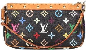 39692 Louis Vuitton Pochette Accessoires aus Monogram Multicolore Canvas in Schwarz Tasche, Handtasche, Clutch
