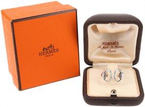 39695 Hermès Ring aus 925er Silber in Größe 51 mit Box