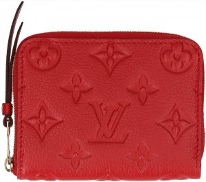 39710 Louis Vuitton Zippy Portemonnaie aus Monogram Empreinte Leder in Cherry Rot mit Box
