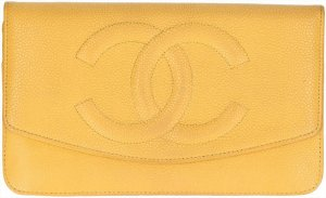 Chanel Portefeuille jaune cuir