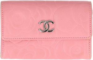 39773 Chanel Kartenetui, Geldbörse, Portemonnaie aus Leder in Rosa